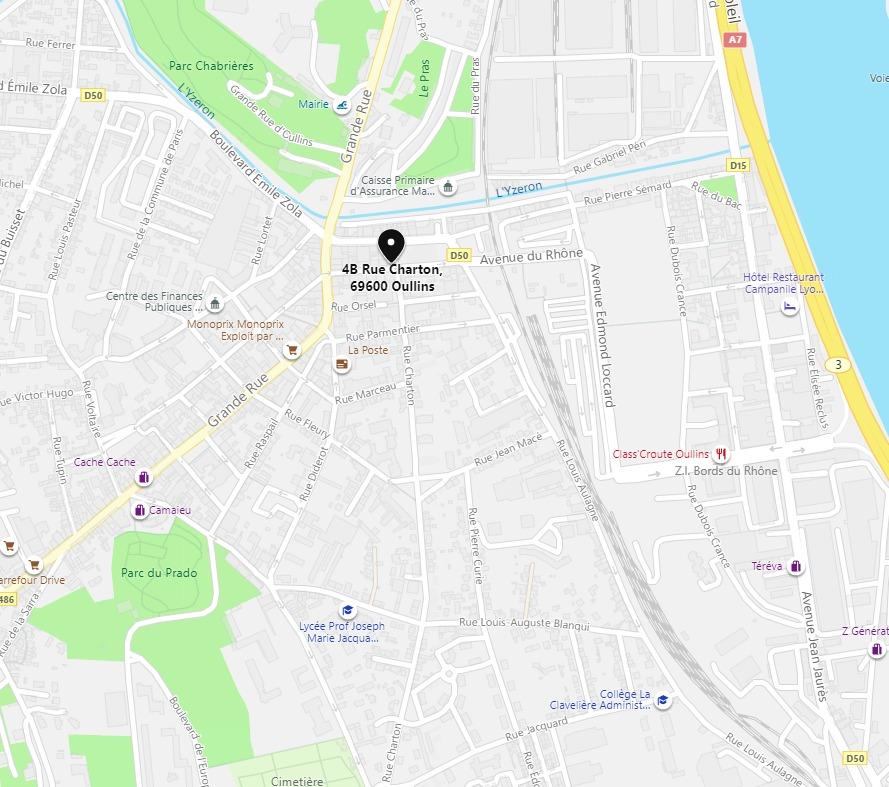 plan d'accès Initium Compétences Lyon